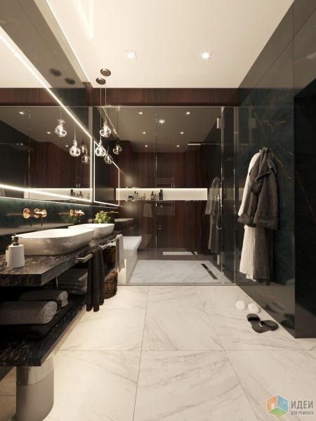 Дизайн гостевого санузла с хаммамом в коттедже