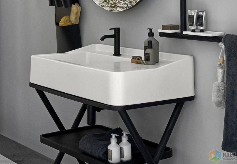 Лаконичная идея для ванной