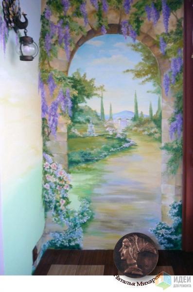 Ручная роспись лоджии