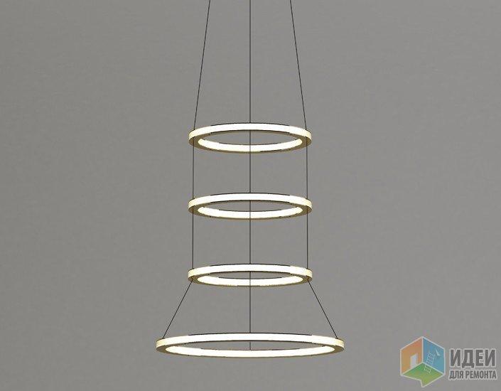 Футуристичный светильник из колец