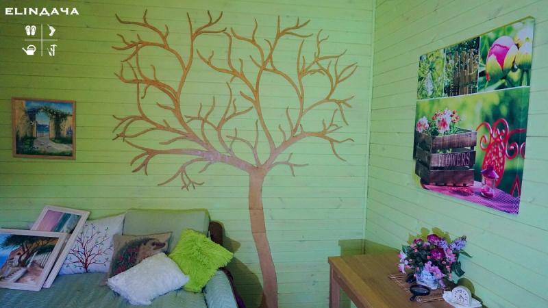 Дерево из фанеры в интерьер