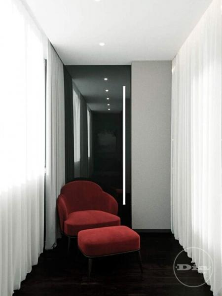 Четырехкомнатная квартира и 4 лоджии: интерьер в темных тонах