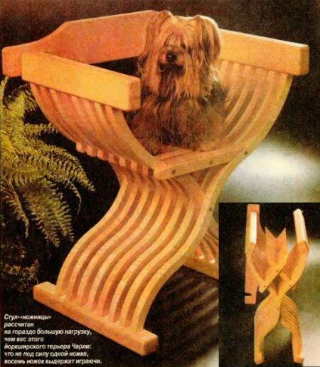 Элегантный складной стул своими руками + полная деталировка!