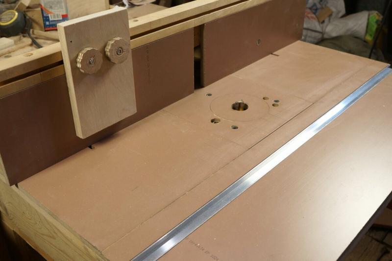 Фрезерный стол из обрезков ламината