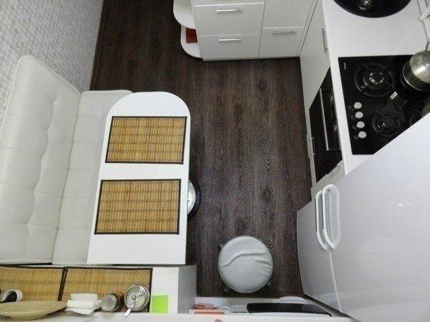 Функциональная маленькая кухня в хрущевке