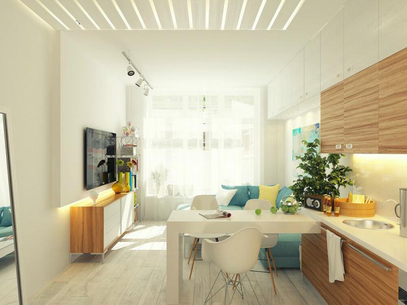 Квартира 29 кв. м вытянутой формы