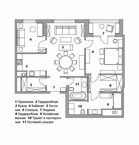 Квартира с антикварной мебелью в Москве, 92 м²