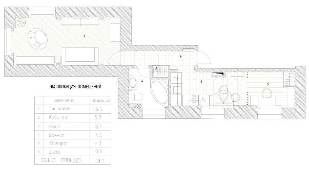 Москва: квартира 38,8 кв. м