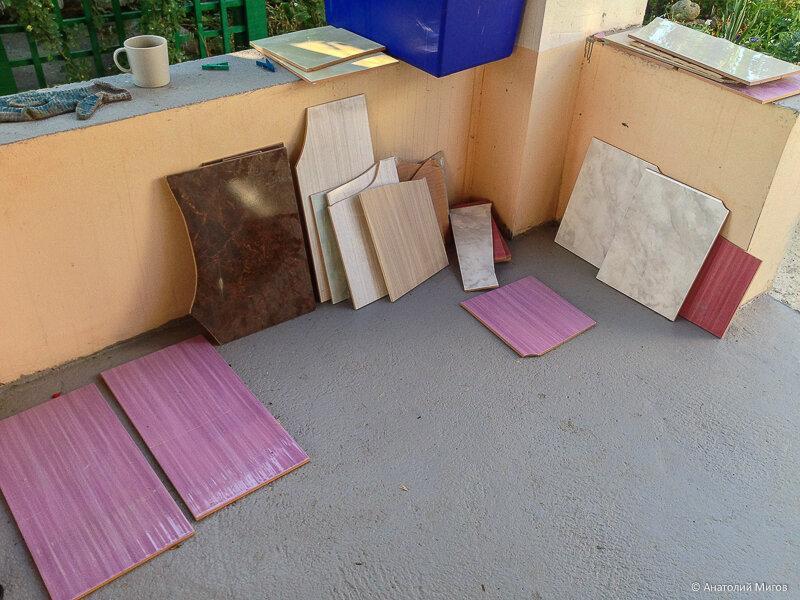 Что можно сделать из битой плитки по цене 5 рублей за килограмм?