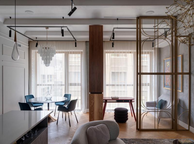 Изысканный дизайн апартаментов в Москве, 80 м²