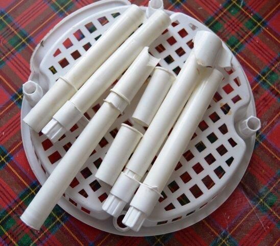Сделала полку для кухни из пластиковых панелей