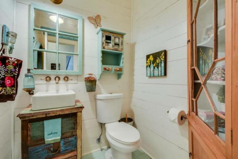 Туалет в стиле прованс