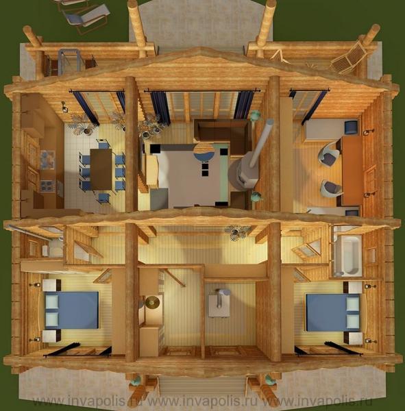 АНГАРА 105 м2 - сибирский дом на три спальни