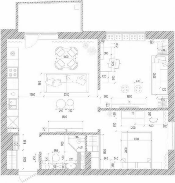 Чудесная квартира в пастельных тонах с мебелью из ИКЕА