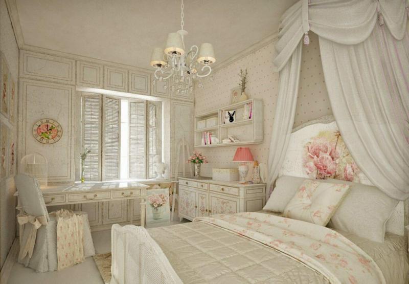 Интерьер для романтиков - спальня прованском стиле (30+ фото)