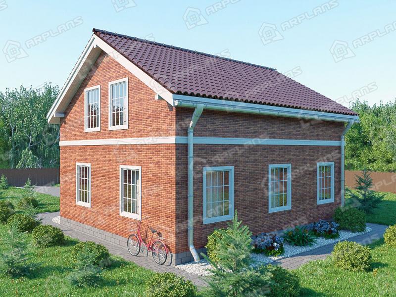 Проект простого двухэтажного дома 130 кв м