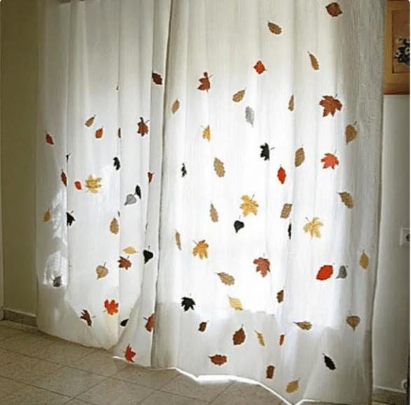 Декор комнаты из ткани в осеннем стиле: простые, но интересные идеи