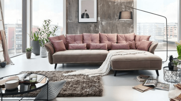 Диван пудрового цвета - 35+ идей для модного и стильного интерьера