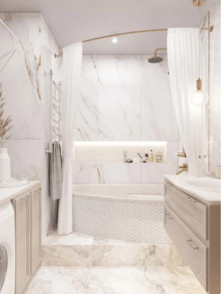 Мягкое очарование пастельных цветов. Шикарный интерьер квартиры для семьи с ребенком