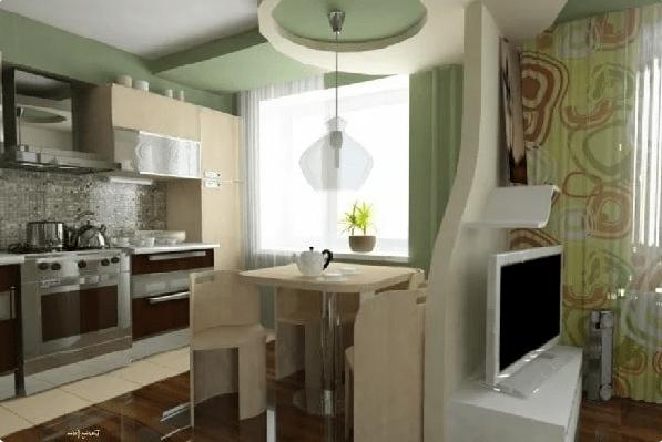 Дизайн маленькой кухни гостиной с перепланировкой
