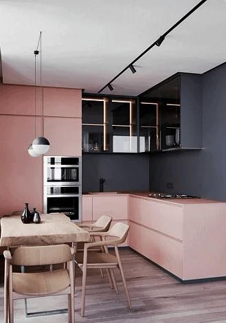 Гармонично сочетающиеся цветовые комбинации, способные привлечь всё внимание гостей Вашего дома к кухне! 6 наглядных примеров