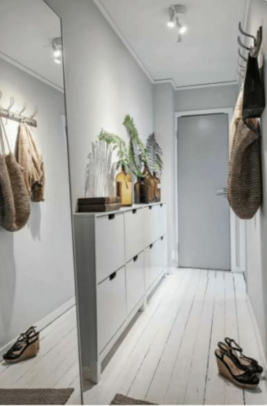 Прихожая в скандинавском стиле - просторно, функционально и уютно