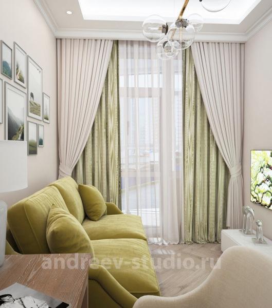 ЦВЕТ ШТОР в интерьере комнаты: акцентировать или оставить близким к цвету стен?