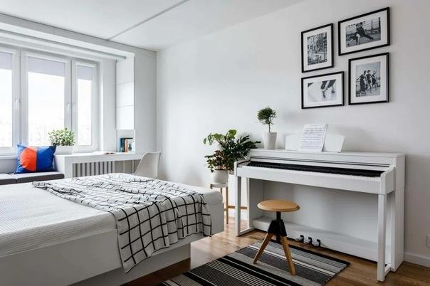 Белый интерьер в европейском стиле. Преображение панельной однушки