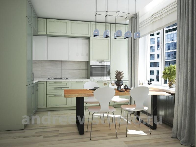 Цвет кухни и её фартука: что выделять цветом, а что - нет.