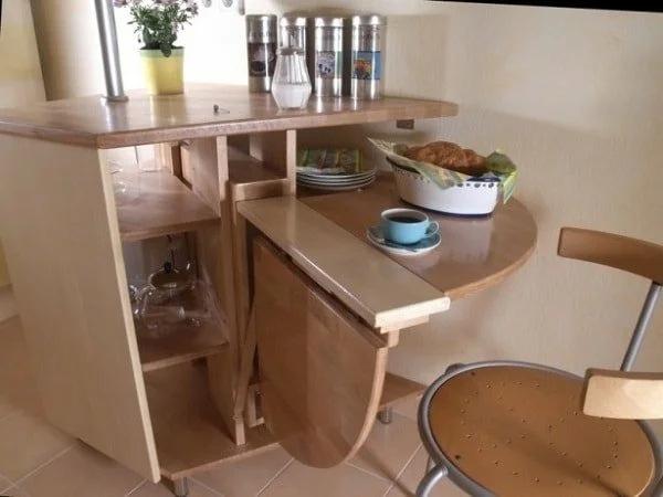 Стол для маленькой кухни – варианты с фото и ценами