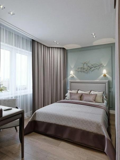 На 46 кв.м. разместили спальню, гостиную, кухню, прихожую и раздельный санузел. Получилось уютно и не тесно