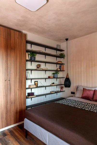 Интерьер в кофейных тонах. Апартамент, 30 кв.м., Санкт-Петербург.