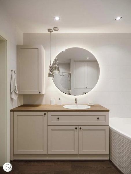 Небольшая перепланировка двухкомнатной квартиры и современный интерьер в нейтральных цветах