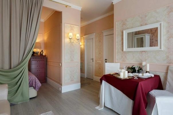 На 41 кв.м - квартира с детской, гостиной, кухней, спальней и изысканным, классическим интерьером