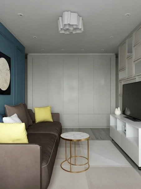 Из тесной панельки 58 кв. м. выжали максимум! Красочная трешка с гостиной, спальней, детской и гардеробной