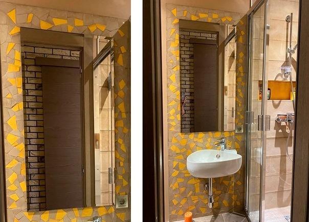 Мозаика в ванной комнате своими руками