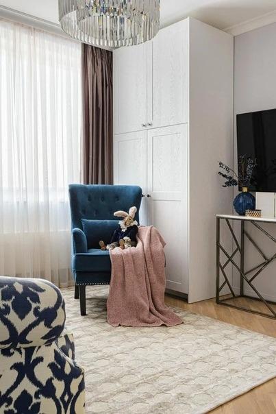 Пастель, классика и прованс. Перепланировка квартиры для увеличения детской комнаты