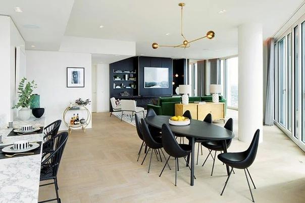 Дизайн кухни-столовой-гостиной: 60 примеров