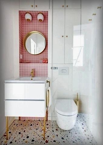 Безумно очаровательный и модный материал для Вашей ванной комнаты. 5 способов оформления «мокрого» помещения с помощью терраццо
