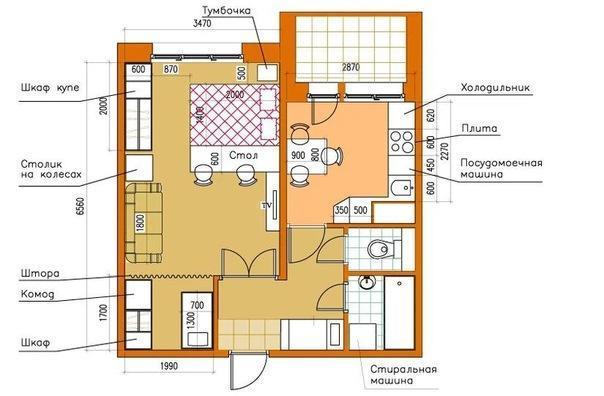 Комната с нишей-альковом: детская зона в алькове