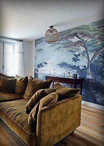 Известно ли Вам, что, чтобы преобразить целую комнату, достаточно украсить одну из стен? 6 наглядных примеров