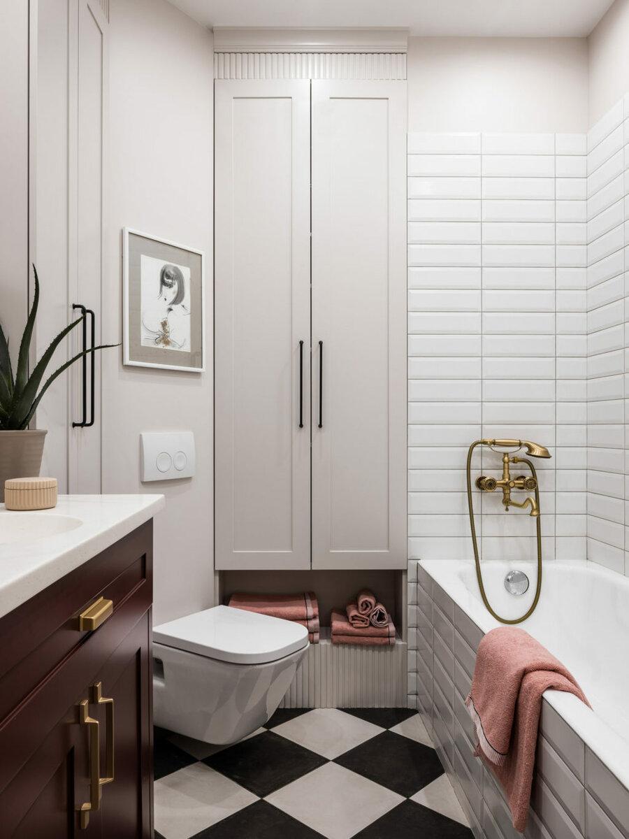 Плитка кабанчик в интерьере: идеи для укладки фартука на кухне и в ванной комнате