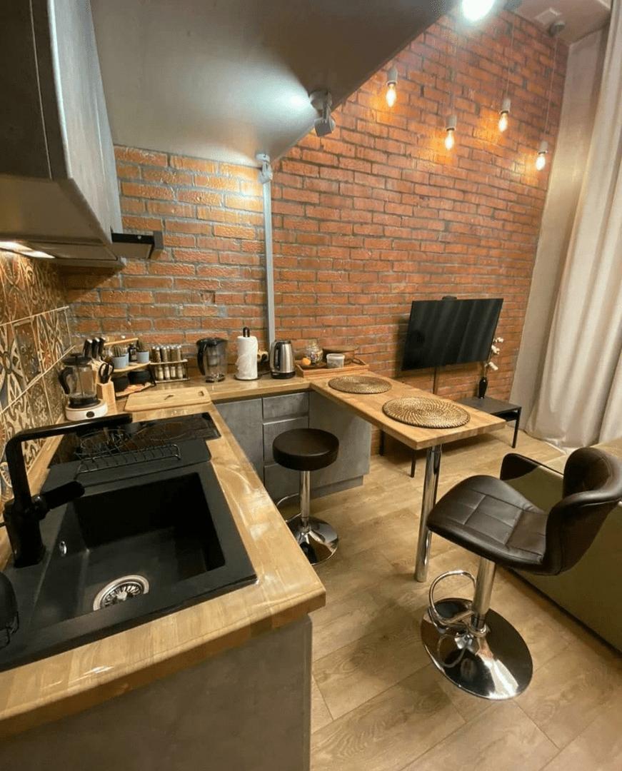 Полноценная двухэтажная квартира на 20 квадратных метров в стиле лофт