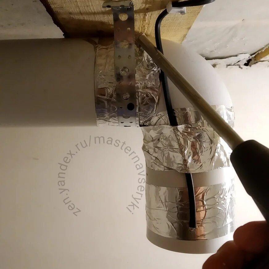 Вентиляция в санузле частного дома. Мой первый опыт монтажа своими руками.