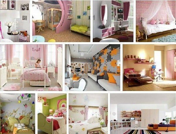 Детская комната для девочки – варианты цвета мебели и интерьера