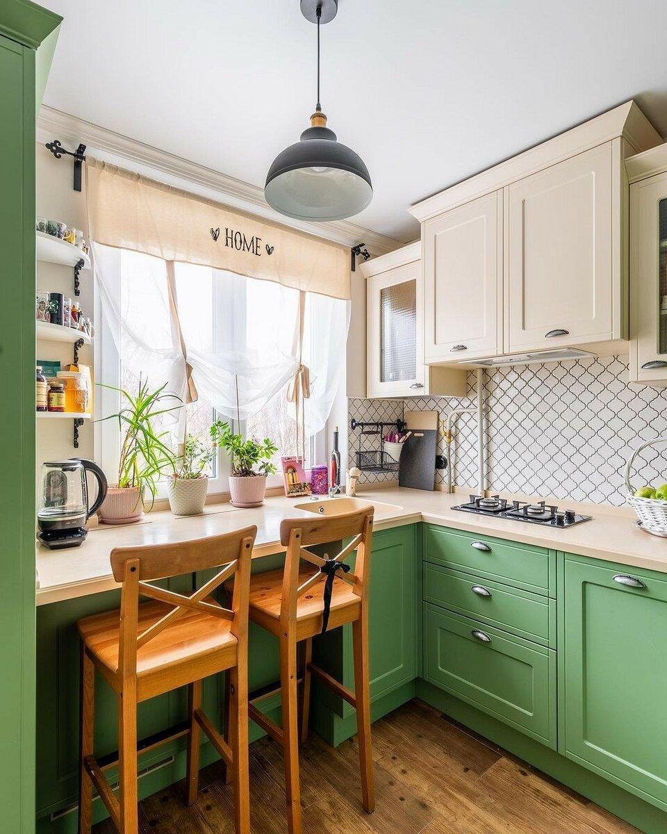 8 функциональных примеров дизайна кухни площадью 6 кв. м