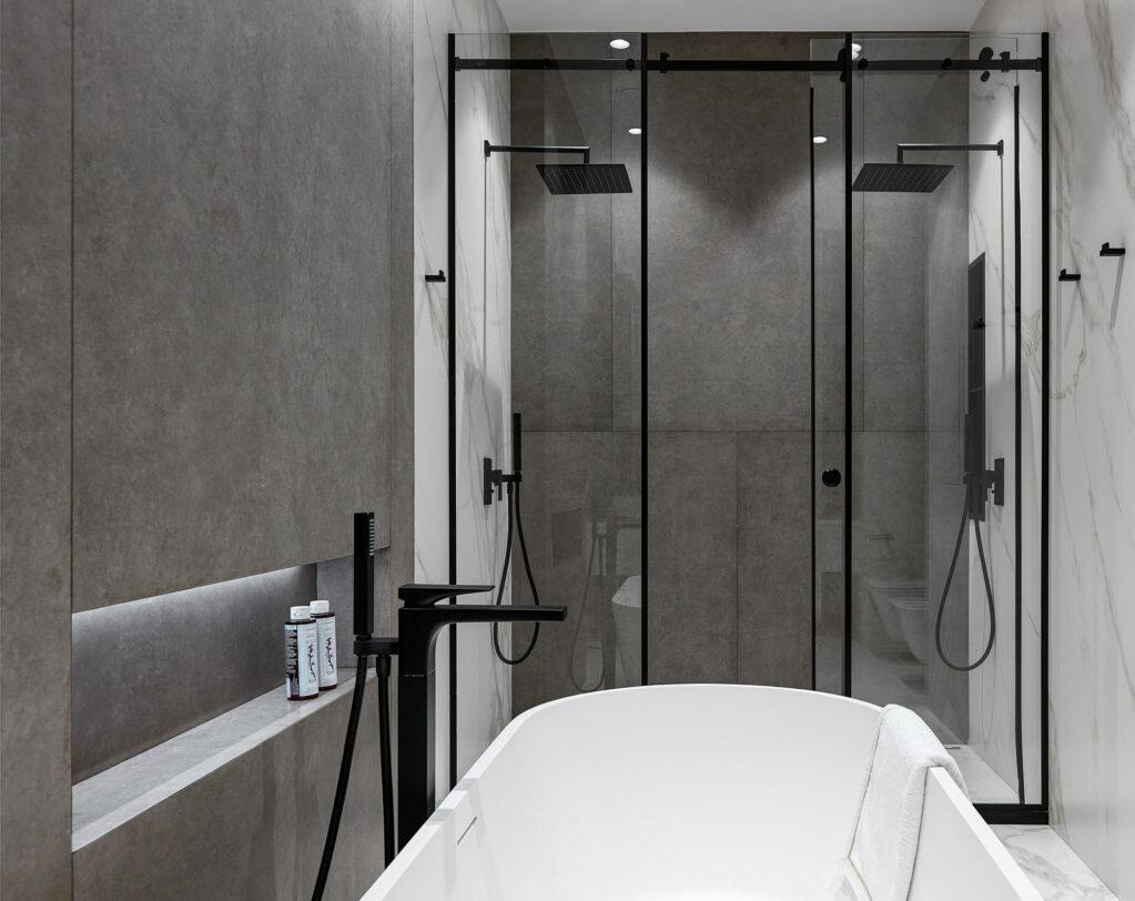 Как оформить ванную комнату с душевой кабиной: 14 примеров