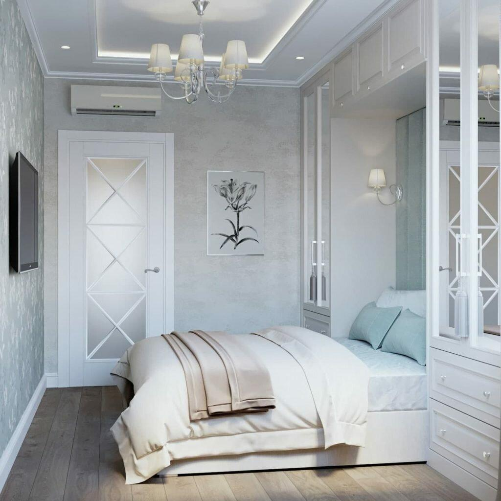 Уютный, красивый интерьер в прованском стиле. Серый с голубым - идеальный дуэт в элегантной квартире 53 кв.м.