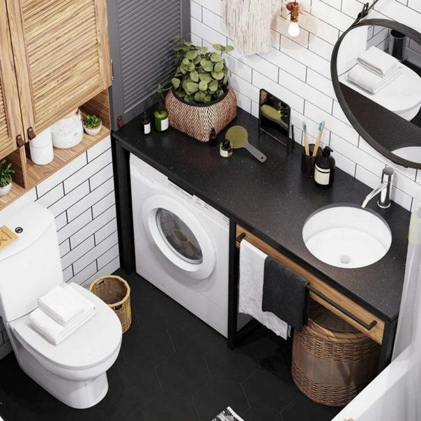Натуральные материалы и выразительные цвета. Контрастная квартира 38 кв.м. в скандинавском стиле