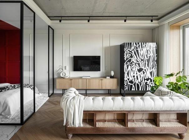 Квартира-студия 44 м² для молодой пары